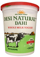 Desi Natural Dahi Whole Yogurt Plain 2lB