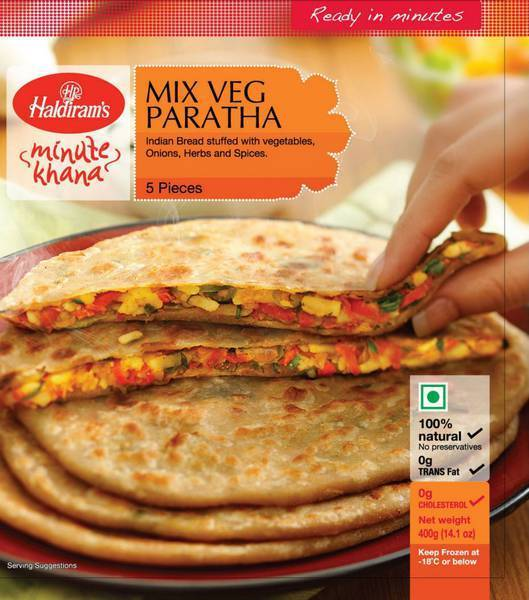 Haldiram's Frozen Mix Vegetables Paratha