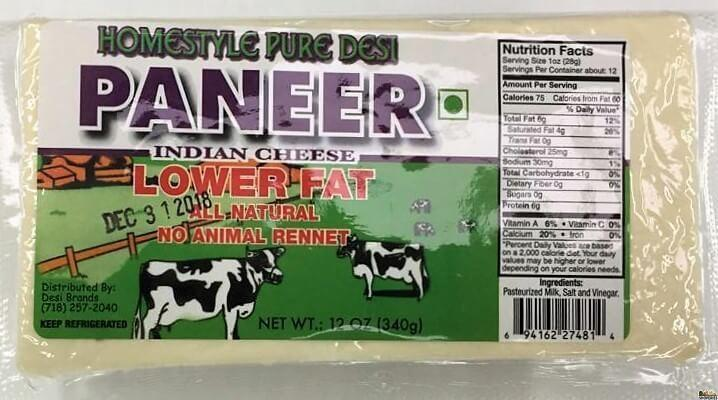 Homestyle Pure Desi Low Fat Paneer