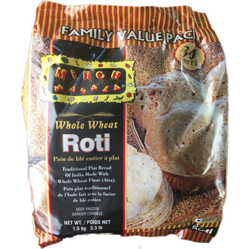 Mirch Masala Frozen Whole Wheat Roti Family Value Pack