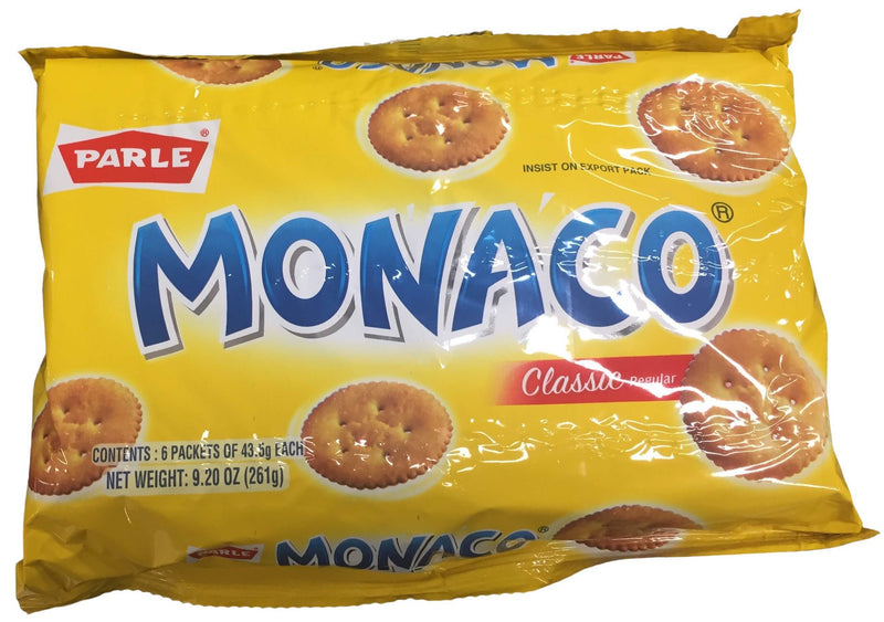 Parle Monaco Biscuits (6 Packets of 43.5gm Each)