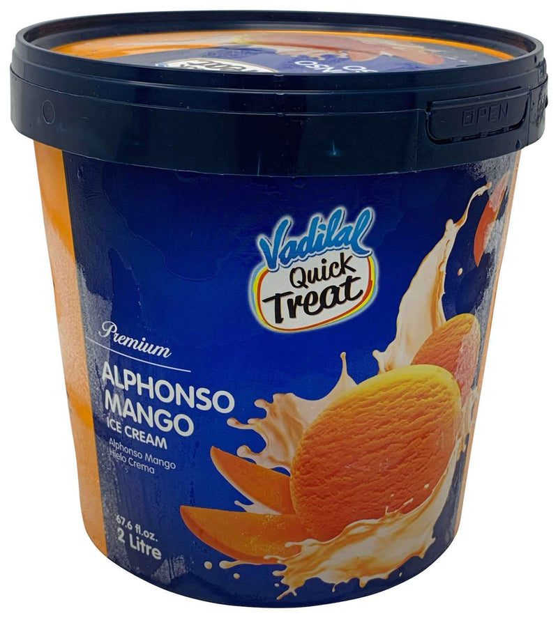 Vadilal Quick Treat Alphonso Mango Ice Cream 2 Liter