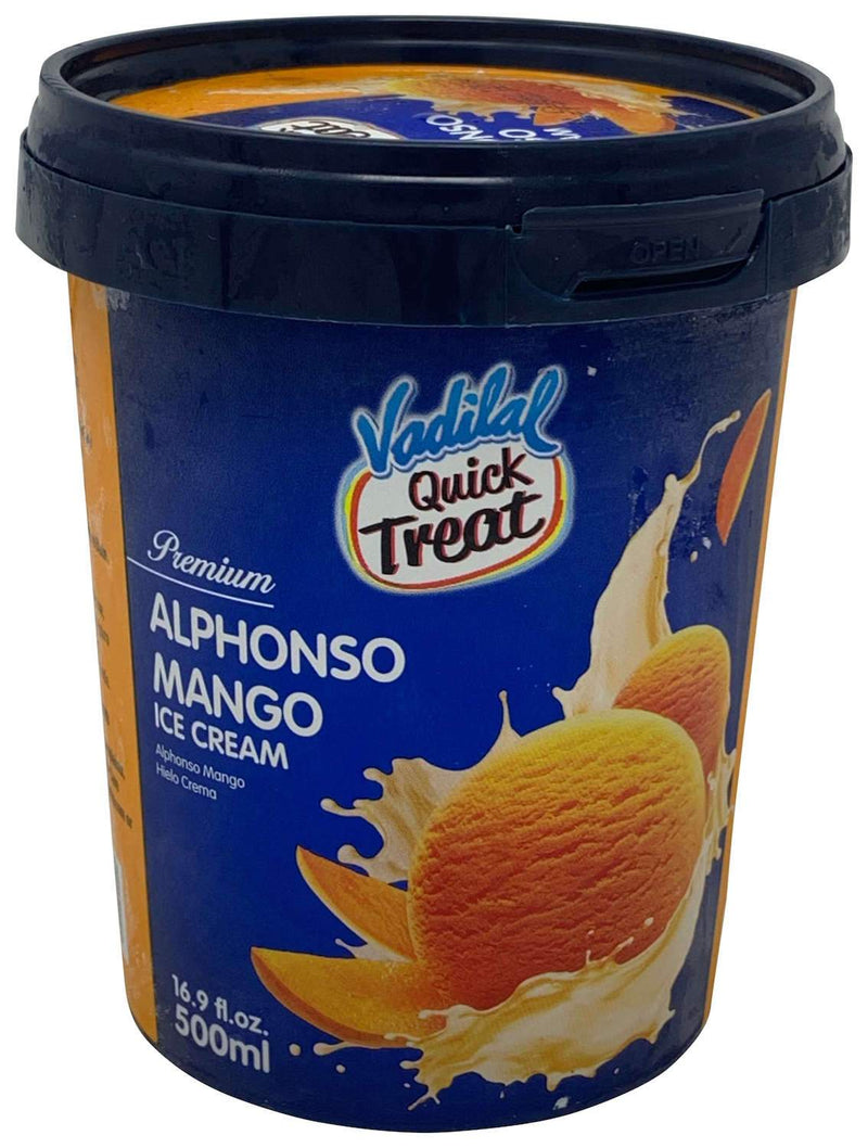Vadilal Quick Treat Alphonso Mango Ice Cream 500ml