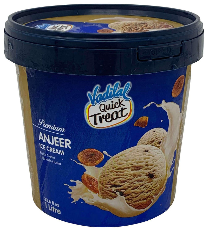 Vadilal Quick Treat Anjeer Ice Cream 1 Liter