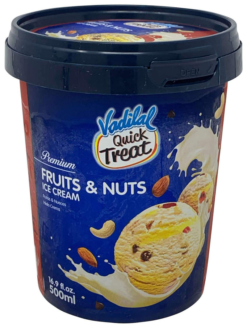 Vadilal Quick Treat Fruits & Nuts Ice Cream 500ml