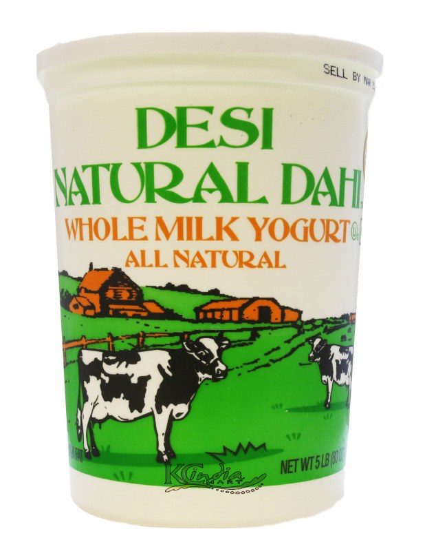 Desi Natural Dahi Whole Yogurt Plain 5 lb