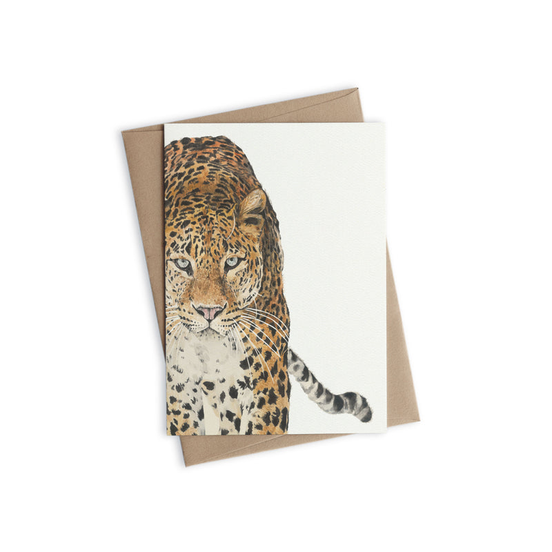 Greeting Card - Leopard
