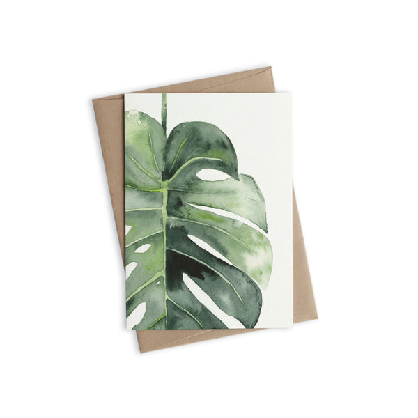 Greeting Card - Single Monstera
