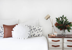 White Pom Pom Cushion