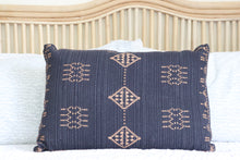 Load image into Gallery viewer, Folk Cushion - Navy