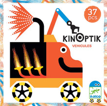 Load image into Gallery viewer, Djeco Wacky Vehicles Kinoptik Construction Set