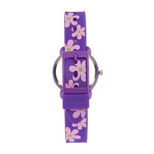 Cactus Timekeeper Kids Watch - Purple / Flowers - Watches