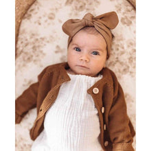 Load image into Gallery viewer, Caramel Topknot Headband | Snuggle Hunny Kids - Fast