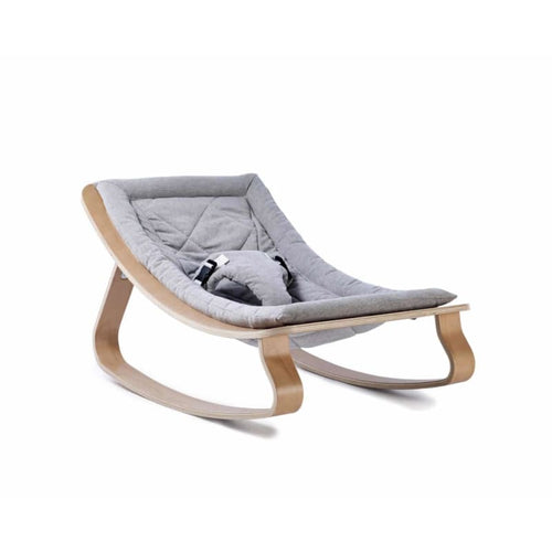 Charlie Crane Levo Baby Rocker with Sweet Grey Cushion -