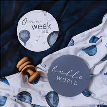 Load image into Gallery viewer, Cloud Chaser & Indigo Reversible Milestone Cards | Snuggle