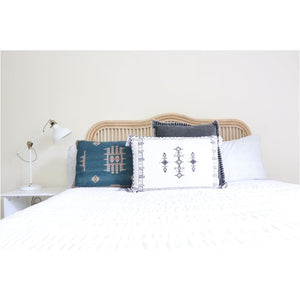Folk Cushion | White - Closely Knit Fast shipping Dreamy