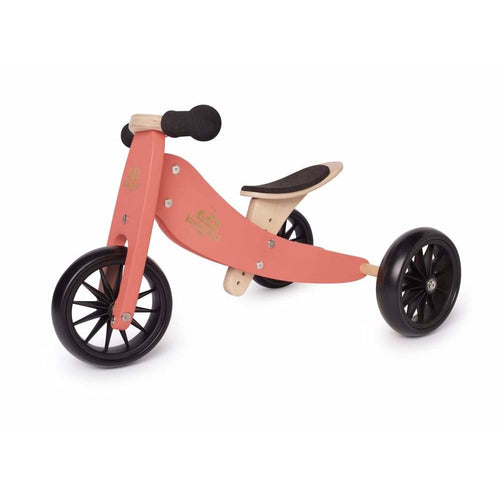 Kinderfeets Tiny Tot 2 -in 1 Trike - Coral - Fast shipping