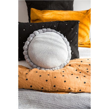 Load image into Gallery viewer, Light Grey Pom Cushion - Closely Knit Fast shipping Dreamy