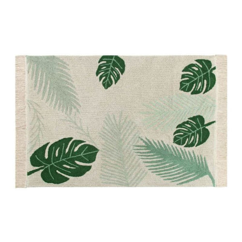 Lorena Canals Washable Rug Tropical Green - Fast shipping