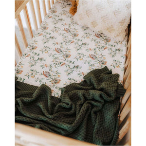 Olive Diamond Knit Baby Blanket | Snuggle Hunny Kids - KIds