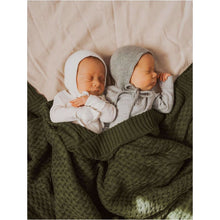 Load image into Gallery viewer, Olive Diamond Knit Baby Blanket | Snuggle Hunny Kids - KIds