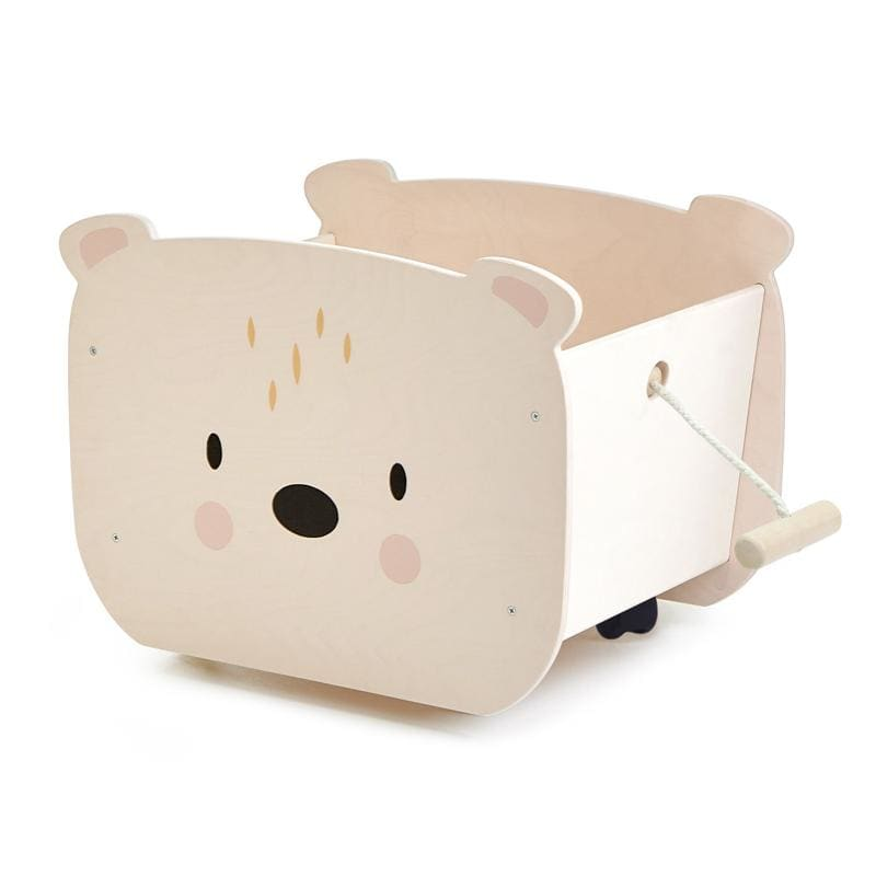 Tender Leaf Toys | Pull Along Bear Cart - Fast shipping