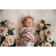 Load image into Gallery viewer, Vintage Blossom Snuggle Swaddle & Topknot Set | Hunny Kids -