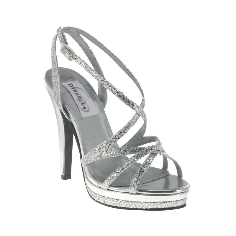 Dyeable bryce silver glitter 22912