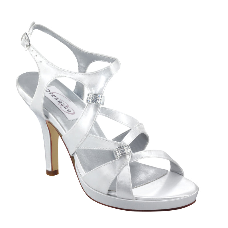 Dyeable claire white satin 20812
