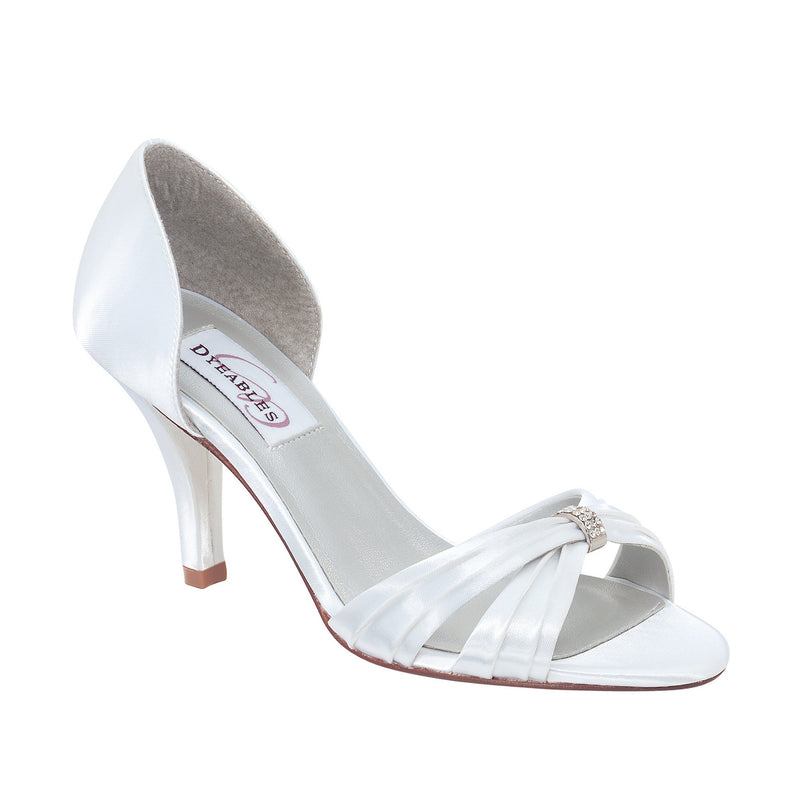 Dyeable daisy white satin 40573