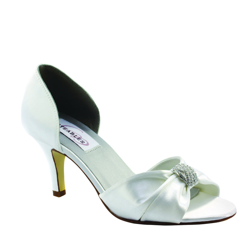 Dyeable dixie white satin 30513
