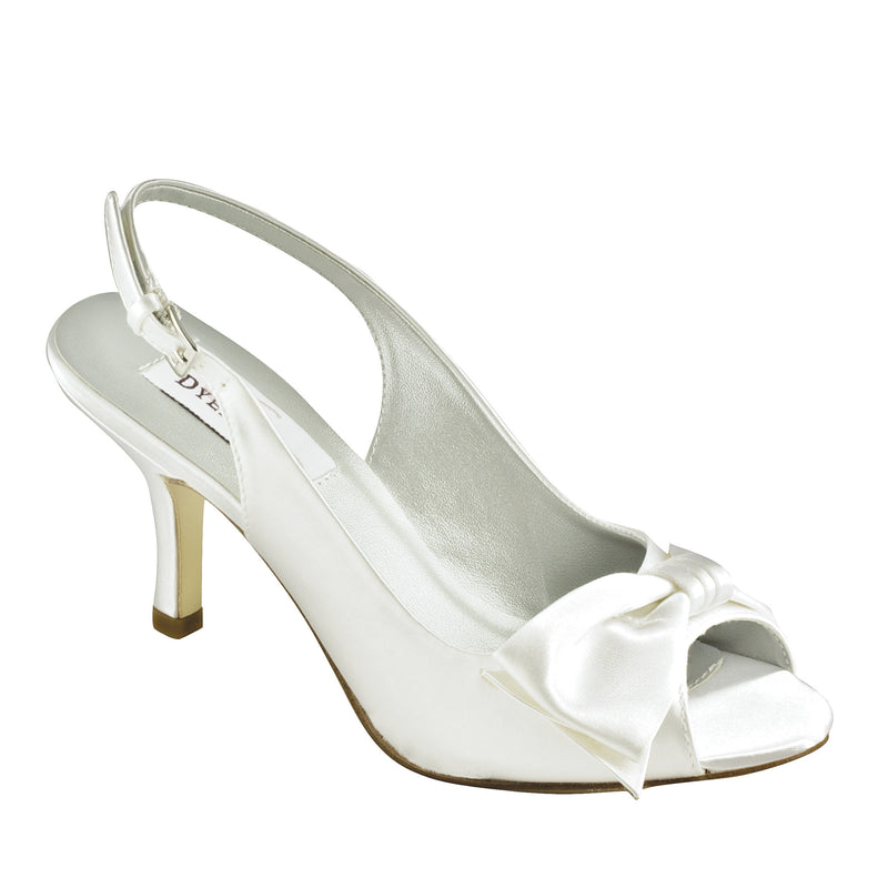 Dyeable faye white satin 16411