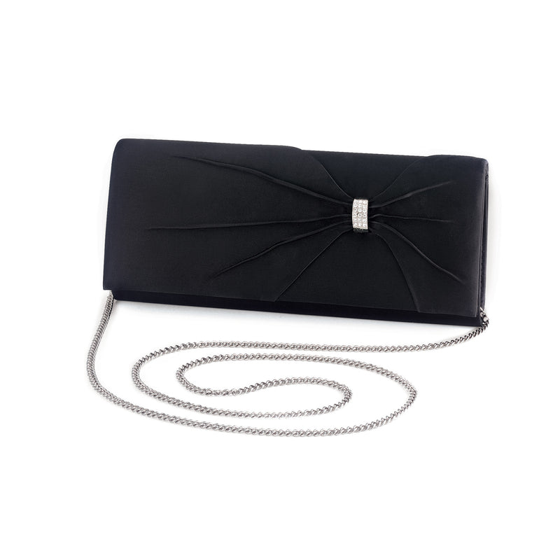 Dyeables HB1805 Women's Clutch Black Satin