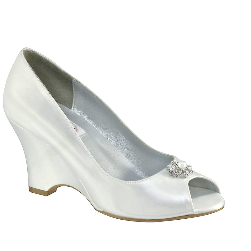 Minka White Satin 19011