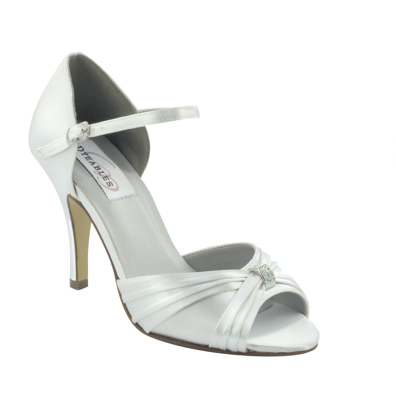 Nora White Satin 26913