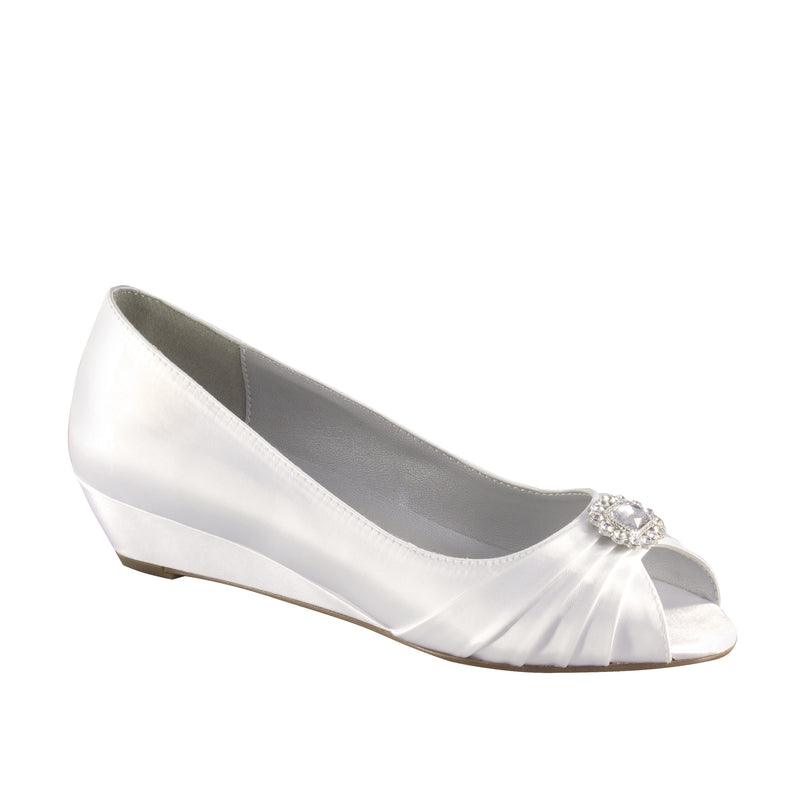 dyeable anette white satin 15310