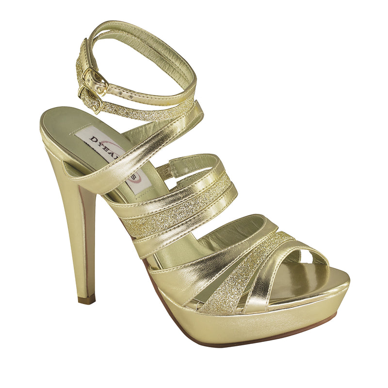 Dyeable anya gold metallic glitter 18011