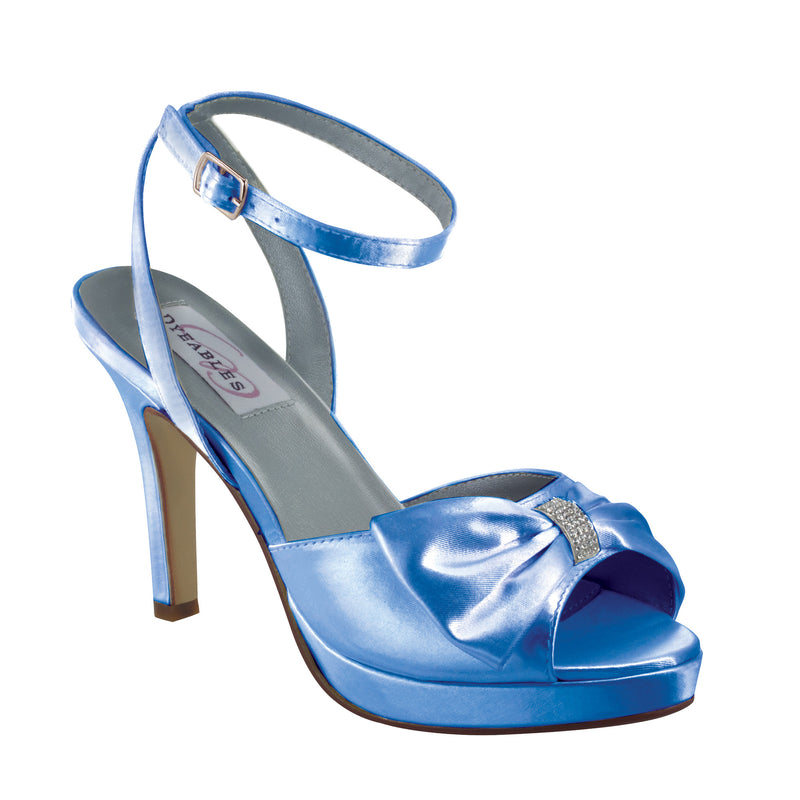 Dyeable brit blue satin 20712