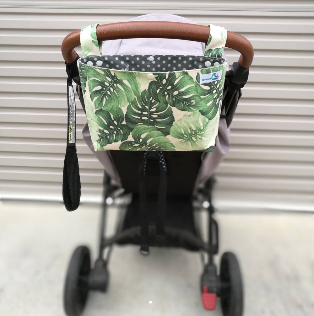 Pram Caddy - Monstera