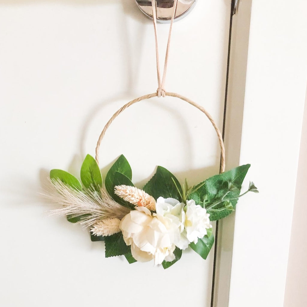 Wreath - Mini Boho with Cream Florals