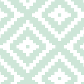 Custom Fabric - Aztec Mint