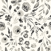 Custom Fabric - Farmhouse Florals Ivory