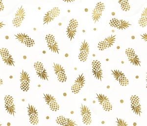 Custom Fabric - Golden Pineapples Dots