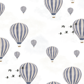 Custom Fabric - Hot Air Balloon Grey