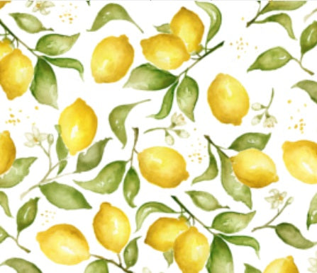 Custom Fabric - Lemon Blossoms