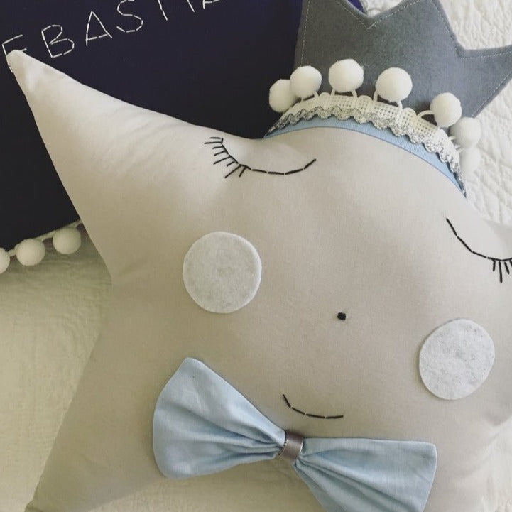 Mr 'Baby Blue' Star Pillow - (4 WEEKS TURNAROUND TIME)