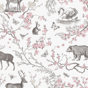 Custom Fabric - Spring Toile Grey Pink