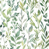 Custom Fabric - Watercolour Greenery