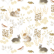 Custom Fabric - Woodland Friends