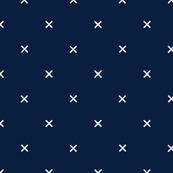 Custom Fabric - X in Navy